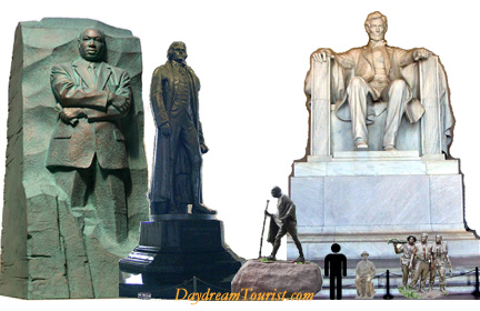 Statues of DC height comparison