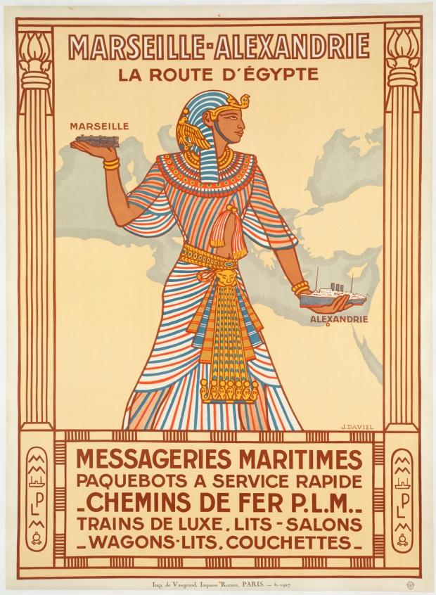 vintage Marsailes to Egypt rail poster