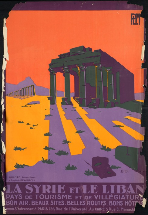 vintage Syria and Libya travel poster