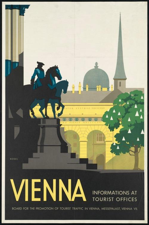 vintage Vienna travel poster