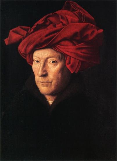 Portrait of a Man in a red turban by Jan van Eyck