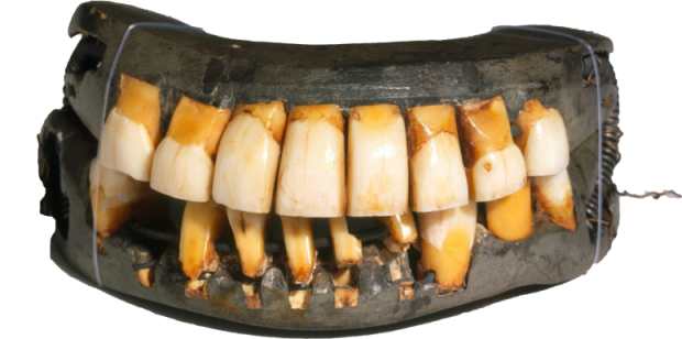 George Washington's only complete set of false teeth on display at Mount Vernon