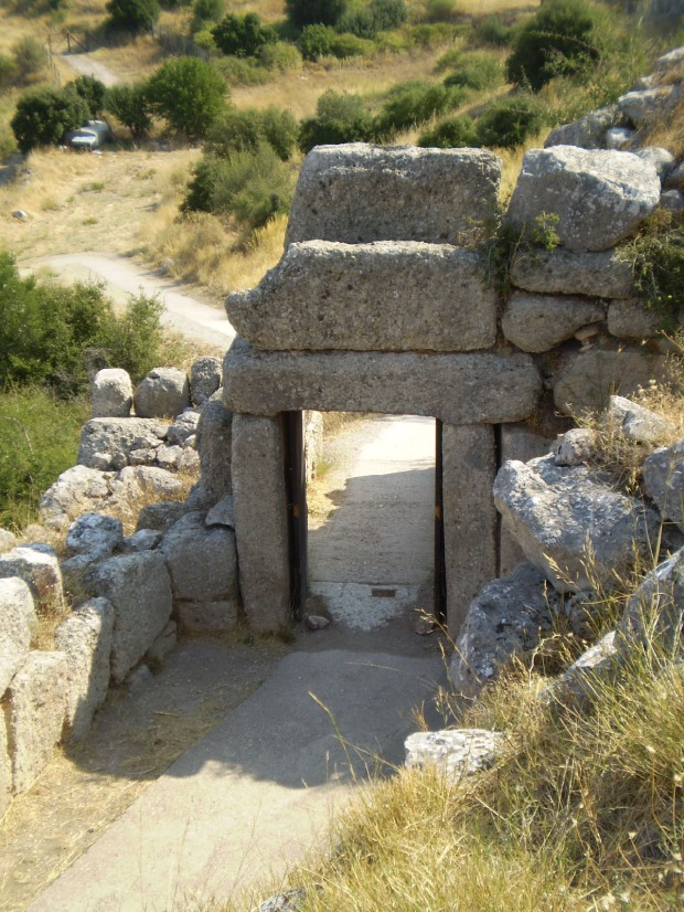 back gate to Mycenae