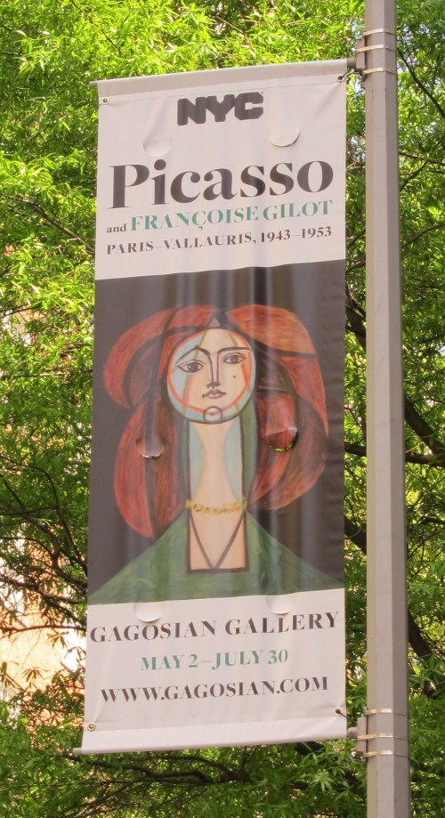Picasso and Gilot exhibit poster
