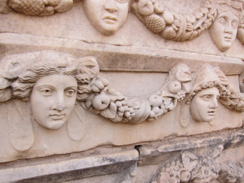 Aphrodisias Agora theater frieze, Turkey, ancient Roman