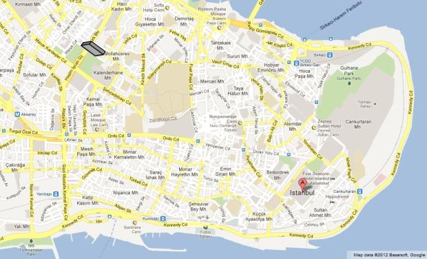 Valen Aqueduct on Istanbul Map