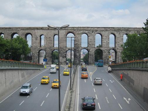 Byzantine Valens Aqueduct, Istanbul Turkey