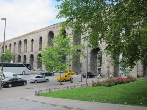 Side View of Valens Aqueduct, Istanbul Turkey