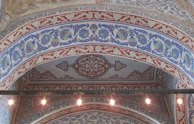 blue arch element, Blue Mosque, Istanbul