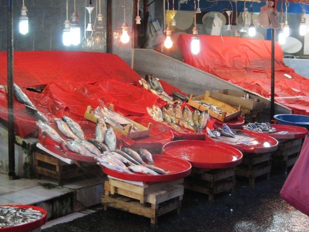 Last fish at the Galata Bridge Fish Market, Istanbul