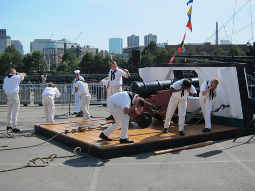 USS Constitution Gun Drill