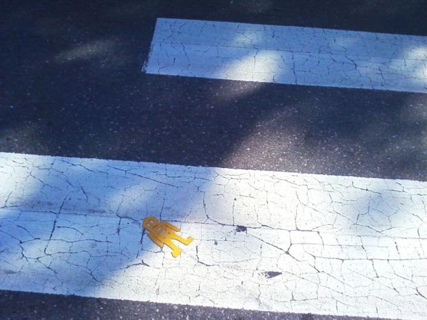 yellow stikman, Boston, MA