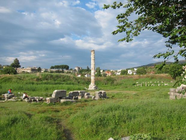 Temple of Artemis of Ephesus today in modern Selcuk