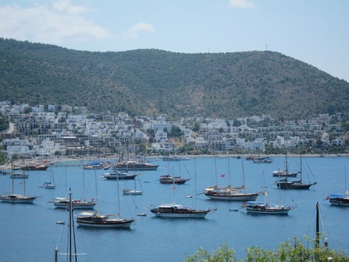 Bodrum east harbor view