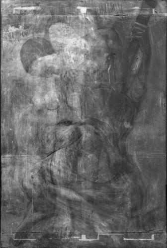 X-ray diffraction image of The Old Guitarist (Art Institute of Chicago)