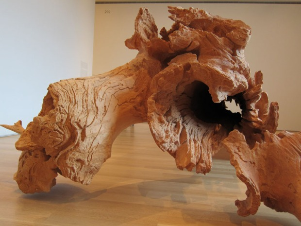 Charles Ray's perfect log at Art Institute of Chicago