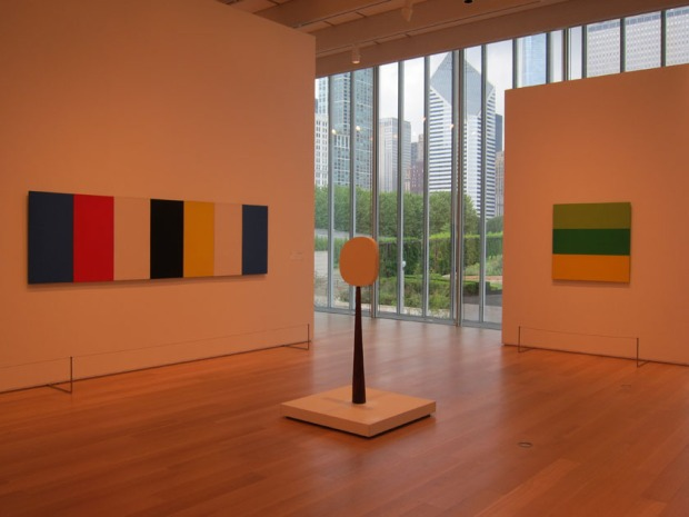 Ellsworth Kelly with city view Art Institute of Chicago