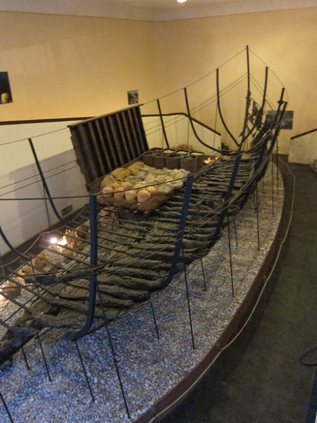 Byzantine wooden ship wreckage