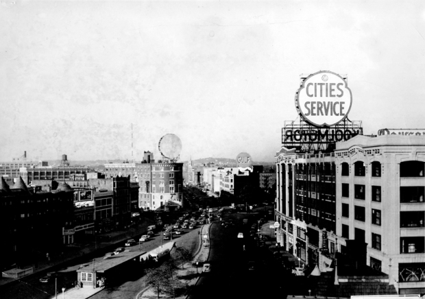 Citgo sign 1940, Kenmore Square Boston