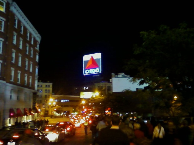 Citgo sign post Boston Red Sox game