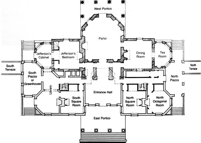 thomas jefferson monticello floor plans trend home jeffersons monticello floor plan images