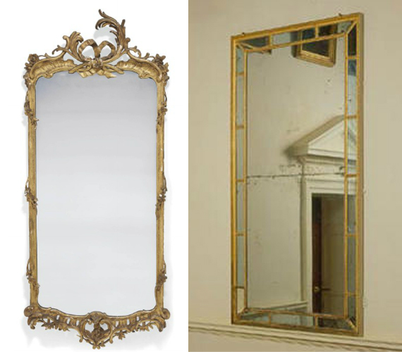 Rococo and Neoclassical mirrors