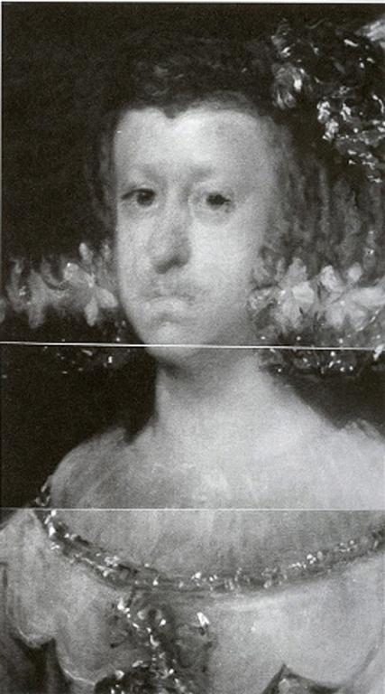 Mariana of Austria infrared image - Velazquez
