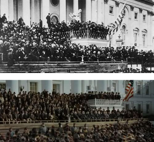 Lincoln 2nd inauguration comparison