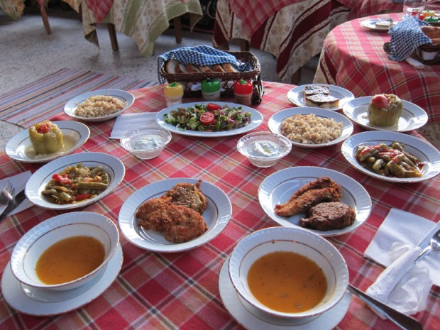 full Turkish dinner in Ephesus