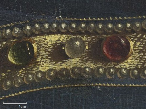 Ghent altarpiece jewel detail