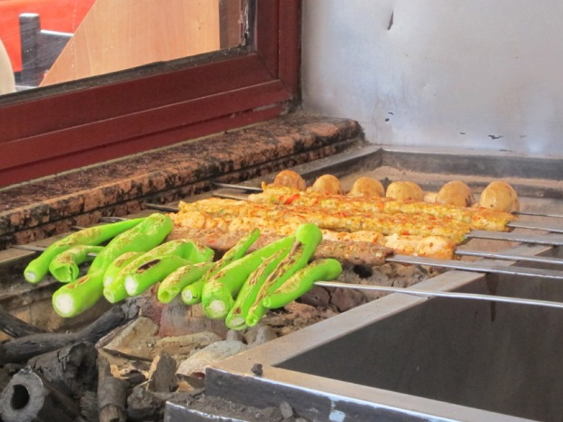 Turkish grill - peppers and kabob