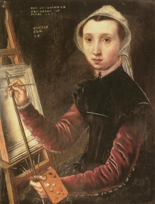 "Catharina van Hemessen, ""Self-Portrait"", 1548, (Kunstmuseum, Basel)"