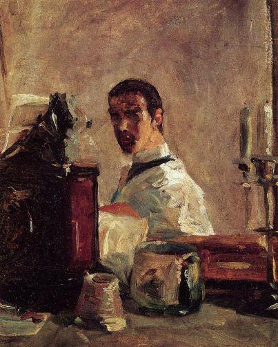 Henri de Toulouse Lautrec - Self Portrait in front of a Mirror