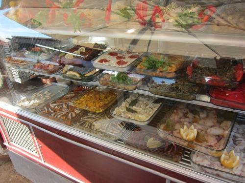 Meze salad case, Bodrum peninsula