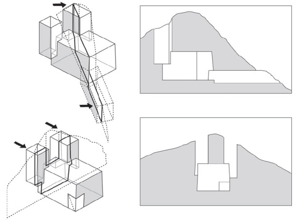 Arup Engineering schematic of Chillida Cavern elements