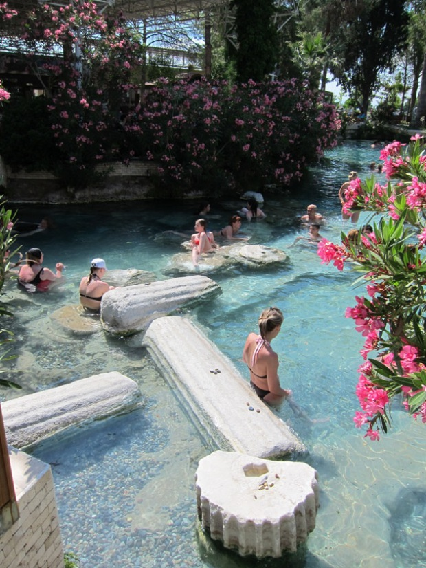 bathers in the Hierapolis hot spring, Pamukkale