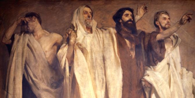 John Singer Sargent, Prophets Micah, Haggai, Malacchi, and Zechariah
