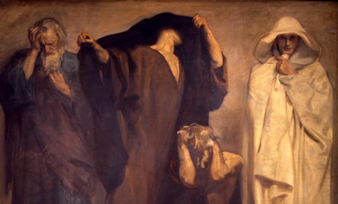 John Singer Sargent, prophets Zephaniah, Joel, Obadiah, and Hosea