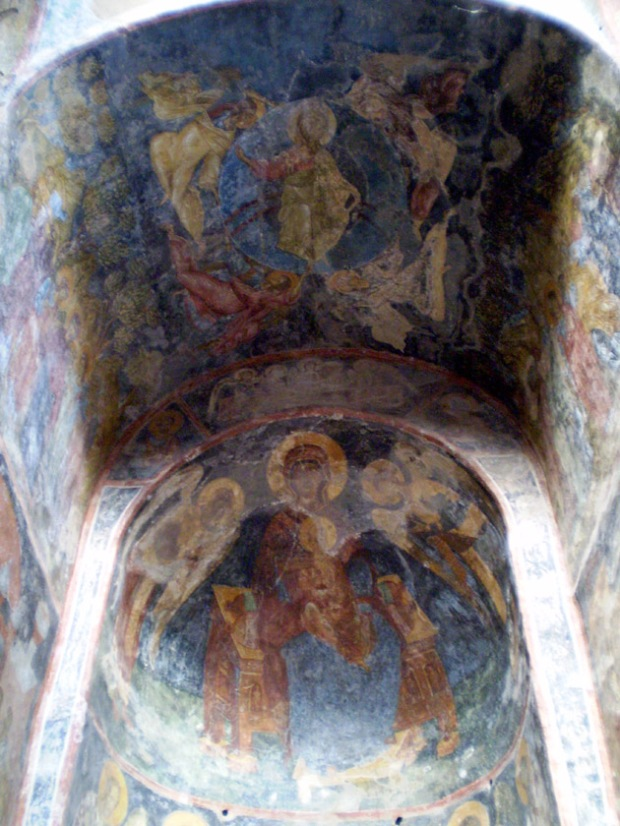 altar frescos of the Peribleptos, Mystras