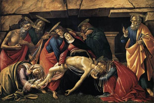 Sandro Botticelli - Lamentation over the Dead Christ with Saints