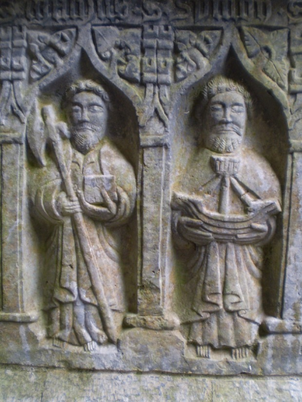 Two saints from Rock of Cashel decorations (13th century)