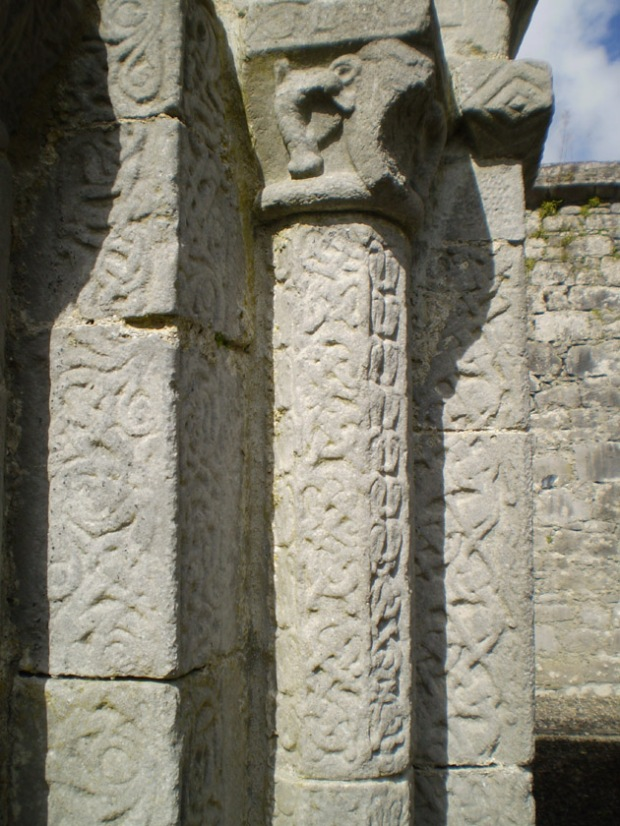 Twisting vine doorway decoration from the Monastery at Dysert O'Dea.
