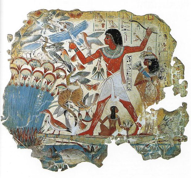 Hunting image from the Tomb of Nebamun, British Museum