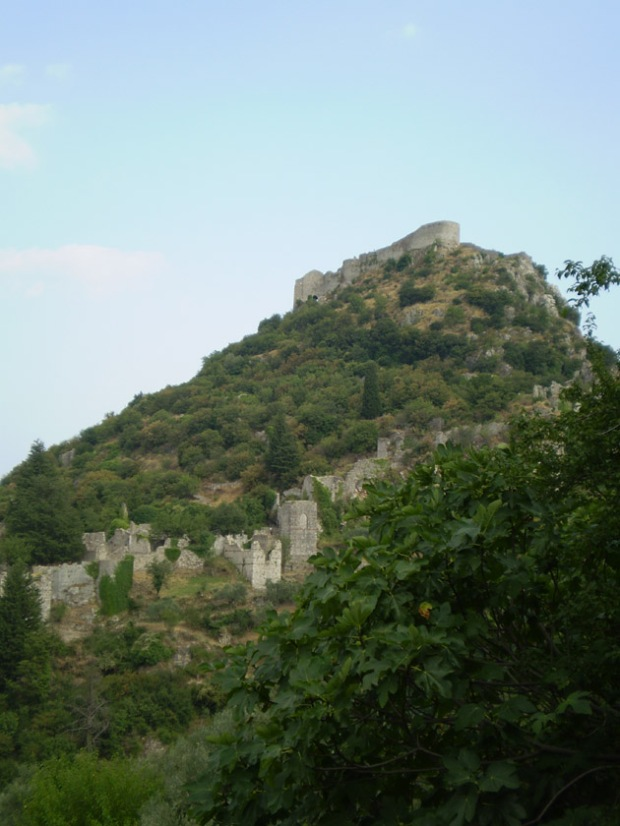 Mystras castle and city walls.