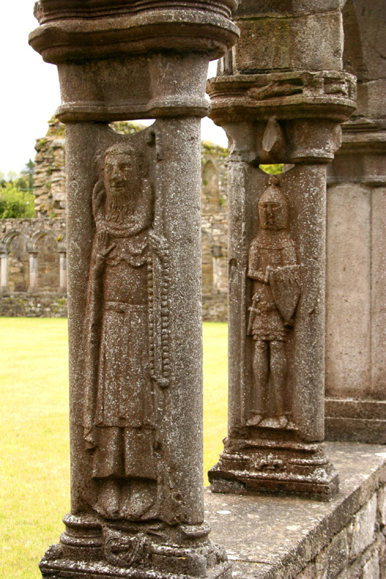 Carved figures at Jerpoint Abbey