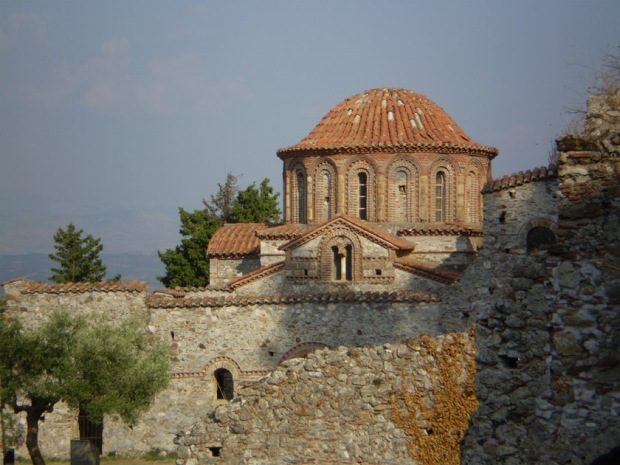 Domed roof of the Church of Saints Theodore (Ayioi Theodoroi), Mystras