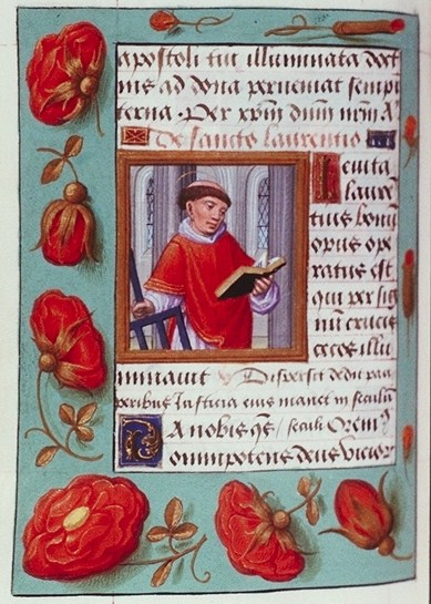 Flanders Book of Hours Illuminated Manuscript - St Lawrence