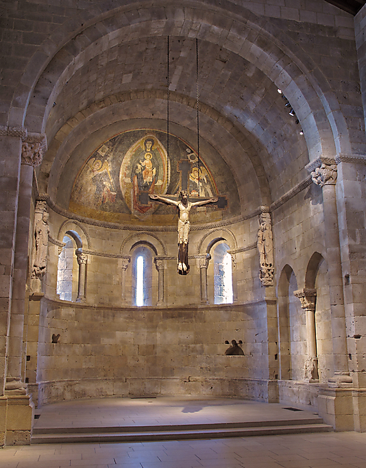 "One small chapel in the Cloisters consists of the ""Apse from San Martín at Fuentidueña"" (ca. 1175–1200) originally from Segovia, Spain. (Photo: The Cloisters Collection)"