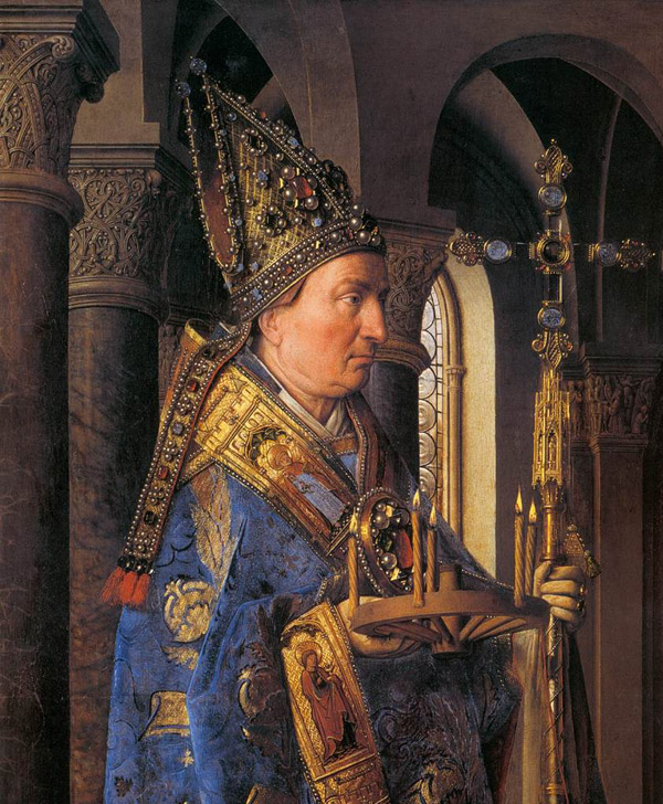 "Saint Donatian of Reims from Jan van Eyck's ""Madonna with Canon van der Paele"""