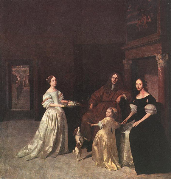 "Jacob Ochtervelt, ""A Family Group"""